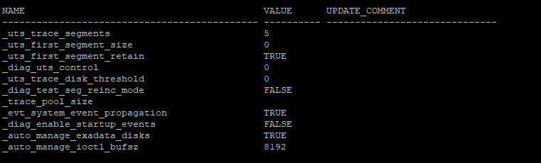 How to find optimizer and database underscore/hidden parameter in Oracle