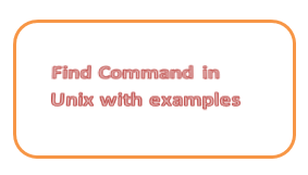 find command in unix with example