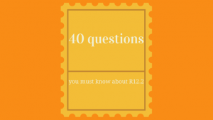 40 questions you must know about R12.2