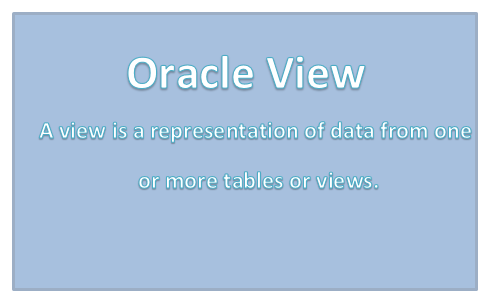 how to create view in oracle
