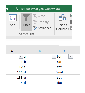 excel feature