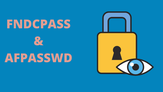 FNDCPASS & AFPASSWD: Change Password through Backend